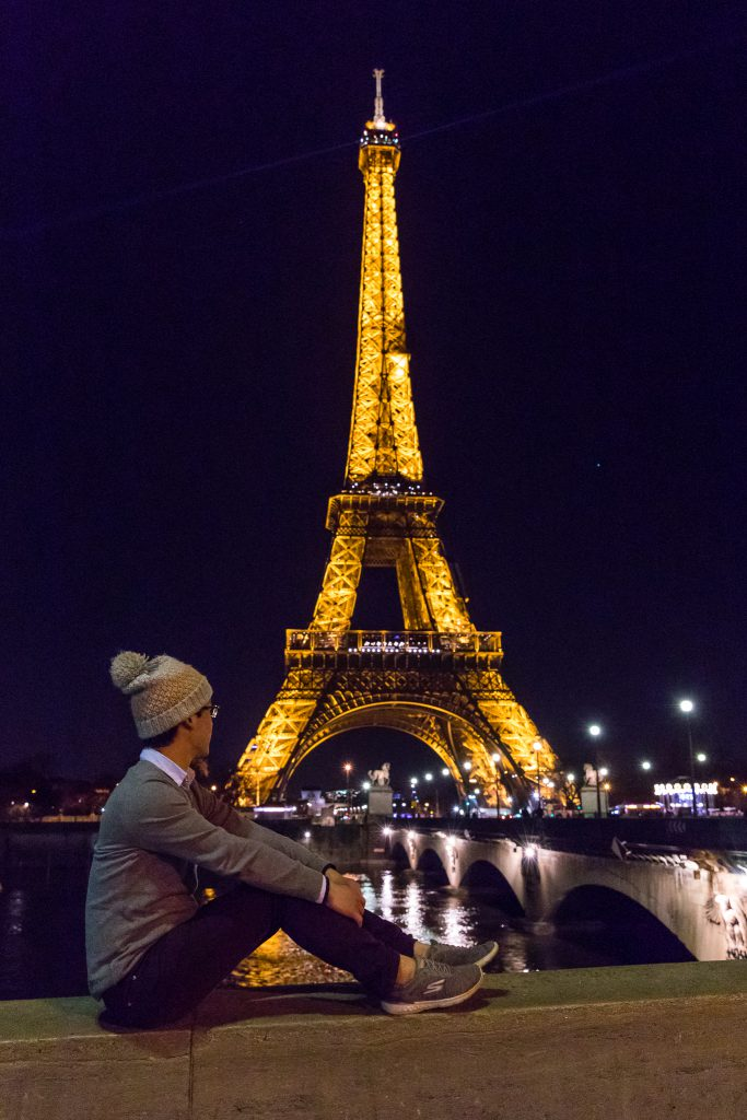 Charles with Eiffel Tower